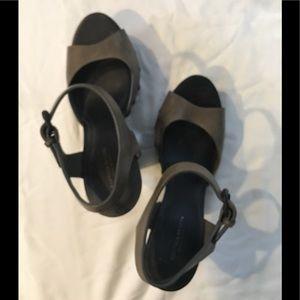 Bottega Veneta Black Platform Sandals